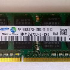 Ram laptop Samsung 4GB PC3-10600 DDR3 1333 Mhz M471B5273DH0-CK0 PC3 1.5V Sodimmz - Memorie RAM laptop Samsung, 1600 mhz