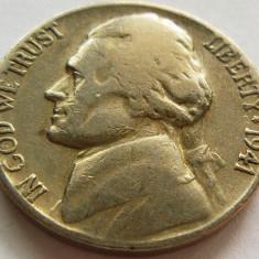 Moneda 5 Centi - SUA, anul 1941 *cod 4305, America de Nord