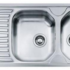 Chiuveta bucatarie inox satinat ONX 621 Franke, 2 cuve, picurator stanga, 1160x500mm, ventil 3 1/2