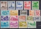 ROMANIA  1967  LP 662  POSTA TELECOMUNICATII  SI TRANSPORT UZUALE  SERIE  MNH, Nestampilat