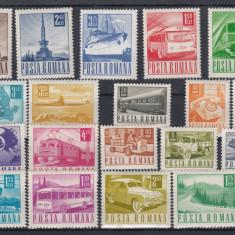ROMANIA  1967  LP 662  POSTA TELECOMUNICATII  SI TRANSPORT UZUALE  SERIE  MNH