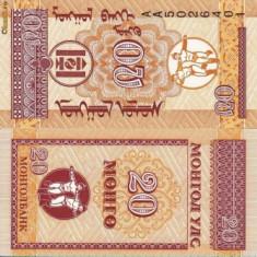 MONGOLIA 10-20-50 mongo 1993 UNC!!!