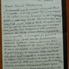 Scrioare a scriit. Cezar Petrescu catre avangardistul Virgil Teodorescu, 1933 - Autograf