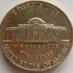 Moneda 5 Centi - SUA, anul 1989 *cod 4318 Litera P, America de Nord