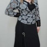 Fusta deosebita, nuanta de negru, design modern (Culoare: NEGRU, Marime: 52)