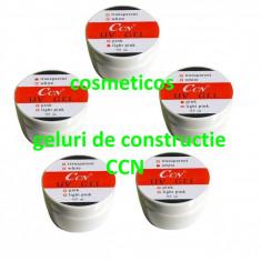 5 Geluri unghii uv CCN white/ transparent/ pink/cover Gel constructie CCN - Gel unghii Canni, Gel de constructie