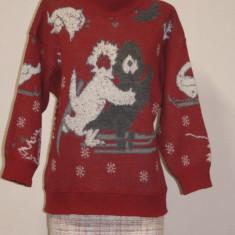 Pulover rosu lana si alpaca Bogner original - Pulover dama, Marime: S/M, Culoare: Din imagine