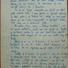 Scrisoare Otilia Cazimir, 3 pagini, 1954 - Autograf