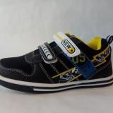 Adidasi pentru baieti,negru cu galben, marimi de la 27 la 32