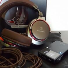 Casti Audio-Technica ATH-MSR7+ DAC Amp Fiio E17K Alpen 2, Casti Over Ear, Cu fir, Mufa 3, 5mm