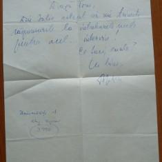 Scrisoare olografa a lui Dumitru Radu Popescu catre George Tomozei, 1980 - Autograf