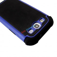 Husa protectie albastru cu negru  hibrid antisoc Samsung Galaxy S3 i9300