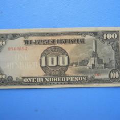 HOPCT FILIPINE 100 PESOS 1943/1944 OCUPATIE MILITARA JAPONEZA UNC - bancnota asia