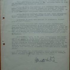Contract semnat de regizorul Liviu Ciulei si actrita evreica Marieta Sadova - Autograf