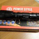 Lanterna Power Light MX-A26 cu Led CREE T6 / 2800W si Acumulator Li-ion 6800mAH