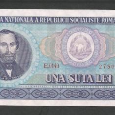 ROMANIA 100 LEI 1966 [4] a UNC, aproape necirculata - Bancnota romaneasca