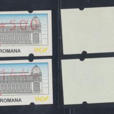 1995 ROMANIA doua timbre rare de automat, neuzate fara sarniera MNH, Romania de la 1950