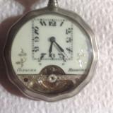 Cumpara ieftin ceas de buzunar HEBDOMAS tragere la 8 zile argint