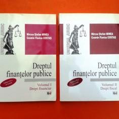 DREPTUL FINANTELOR PUBLICE Drept financiar Drept fiscal Mircea Minea 2 volume - Carte Drept financiar