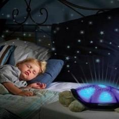 Lampa veghepentru copii - broscuta testoasa cu proiectie stelara pe perete - Lampa veghe copii Altele, Multicolor