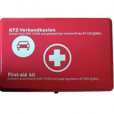 Trusa medicala auto de prim ajutor omologata, import Germania - Trusa auto prim ajutor
