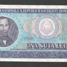 ROMANIA 100 LEI 1966 [7] XF++ - Bancnota romaneasca