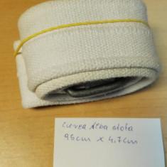 Curea Alba stofa C&A 95cm X 4, 7cm - Curea Dama, Material