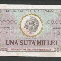 ROMANIA 100000 100.000 LEI 25 ianuarie 1947 [5] BNR vertical - Bancnota romaneasca