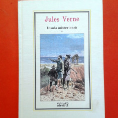 INSULA MISTERIOASA Jules Verne vol 1 Biblioteca Adevarul - Carte de aventura