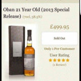 Whisky Oban 21 year
