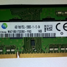 Ram laptop Samsung 4GB PC3-12800 DDR3 1600Mhz M471B5173DB0 PC3L Low 1.35V Sodimm - Memorie RAM laptop