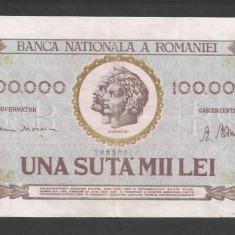 ROMANIA 100000 100.000 LEI 25 ianuarie 1947 [3] BNR vertical - Bancnota romaneasca