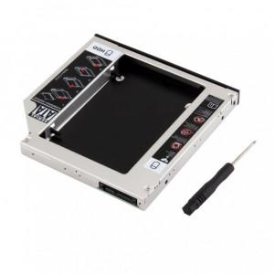 9.5mm HDD/SSD Caddy Adaptor rack de la SATA la SATA de laptop-unitate optica