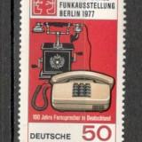 Berlin.1977 100 ani telefonul CB.223 - Timbre straine, Nestampilat