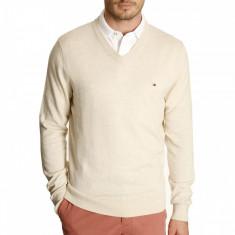Bluza TOMMY HILFIGER - Pulover, Bluze Barbati - 100% AUTENTIC - Bluza barbati Tommy Hilfiger, Marime: S, Culoare: Crem, Bumbac