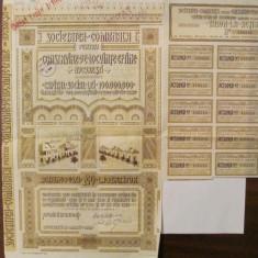 GE - Actiune 200 lei Societatea Comunala Locuinte Ieftine Bucuresti 1939, Romania 1900 - 1950