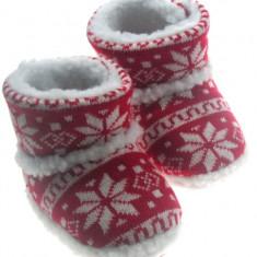 Cizmulite imblanite rosii - Incaltaminte bebe - Cizme copii