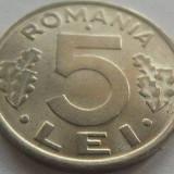 Moneda 5 Lei - ROMANIA, anul 1992 *cod 3701 --- UNC - Moneda Romania