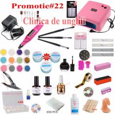 Ki unghii Gel -Lampa uv-Pila unghii-Geluri constructie-Geluri color-consumabile - Unghii false BeautyUkCosmetics