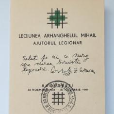 LEGIONARI-C ZELEA CODREANU-CARNET AJUTORUL LEGIONAR-BUCURESTI 1940