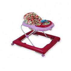 Premergator Baby Mix Copii Cu Roti Din Silicon Bg-1601 Pink, 0-6 luni, Roz