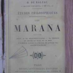 Etudes Philosophiques. Les Marana - H. De Balzac, 389832 - Carte in franceza
