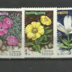 URSS 1977 - flori, serie neuzata - Diploma/Certificat