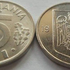 Moneda 5 Lei - ROMANIA, anul 1995 *cod 3703 --- UNC DIN SACULET BNR! - Moneda Romania