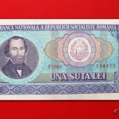 ROMANIA - 100 Lei 1966 - aUNC - Bancnota romaneasca