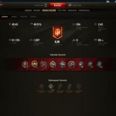 CONT WORLD OF TANKS 27xT10 Tanks, 21x Premium Tanks, GOLD 13.000 - Jocuri PC Altele, Simulatoare