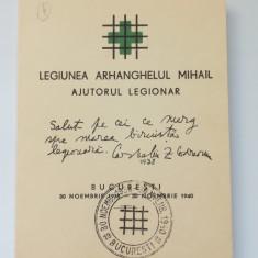 Cumpara ieftin LEGIONARI-CORNELIU ZELEA CODREANU-CARNET AJUTORUL LEGIONAR-BUCURESTI 1940