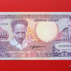 SURINAME - 100 Gulden 1988 - UNC - bancnota america
