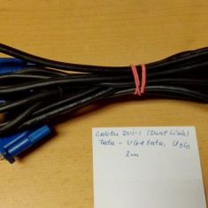 Cablu DVI-I (Dual Link), tata › VGA, tata; USB, tata - 2m - Cablu PC