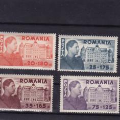 ROMANIA 1945, LP 166, FUNDATIA CAROL SERIE MNH - Timbre Romania, Nestampilat